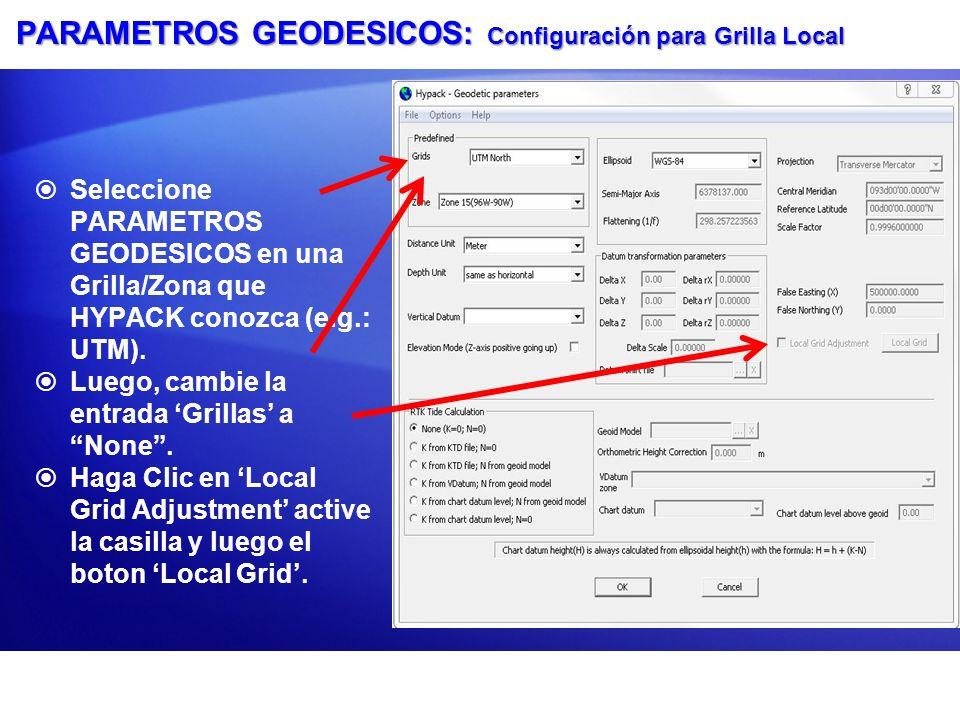 GRILLA LOCAL: Ventana Entre las coordenadas Mundiales y Locales, seleccione su origen y haga que el programa calcule la rotación, translación y escala.