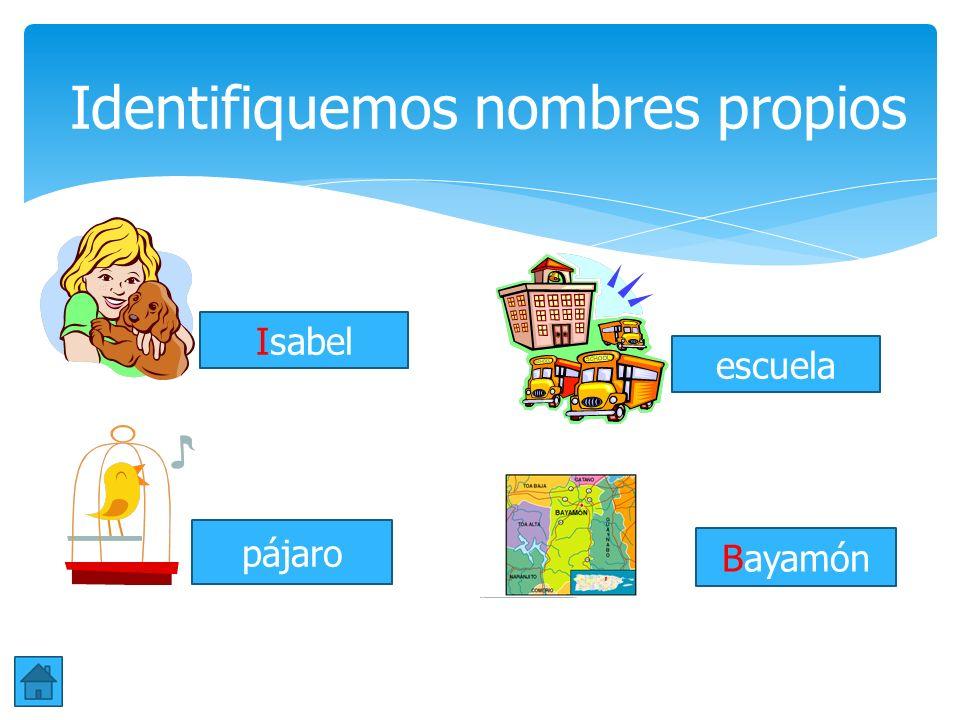 Los nombres comunes se refieren a personas, cosas o animales. Estos no se distinguen de los demás. Comienzan con letras minúsculas. Ejemplos: niño, pe