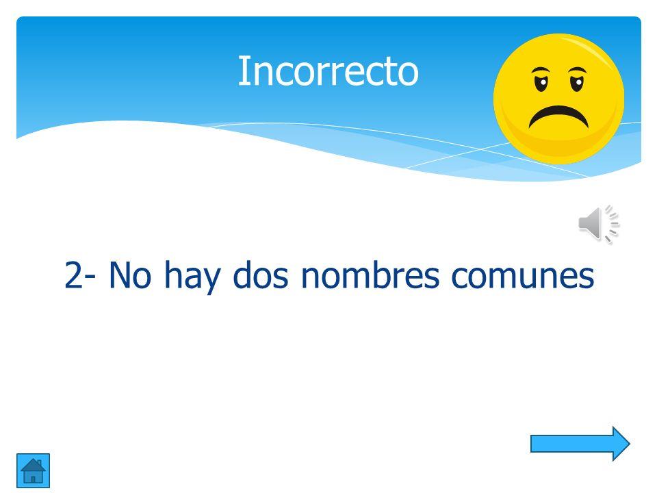 6. ¿Cuantos nombres comunes hay? aa. 2 bb. 5 cc. 7 Sexta Pregunta libro, Mayaguez, juguete, perro, casa, Jorge, lápiz