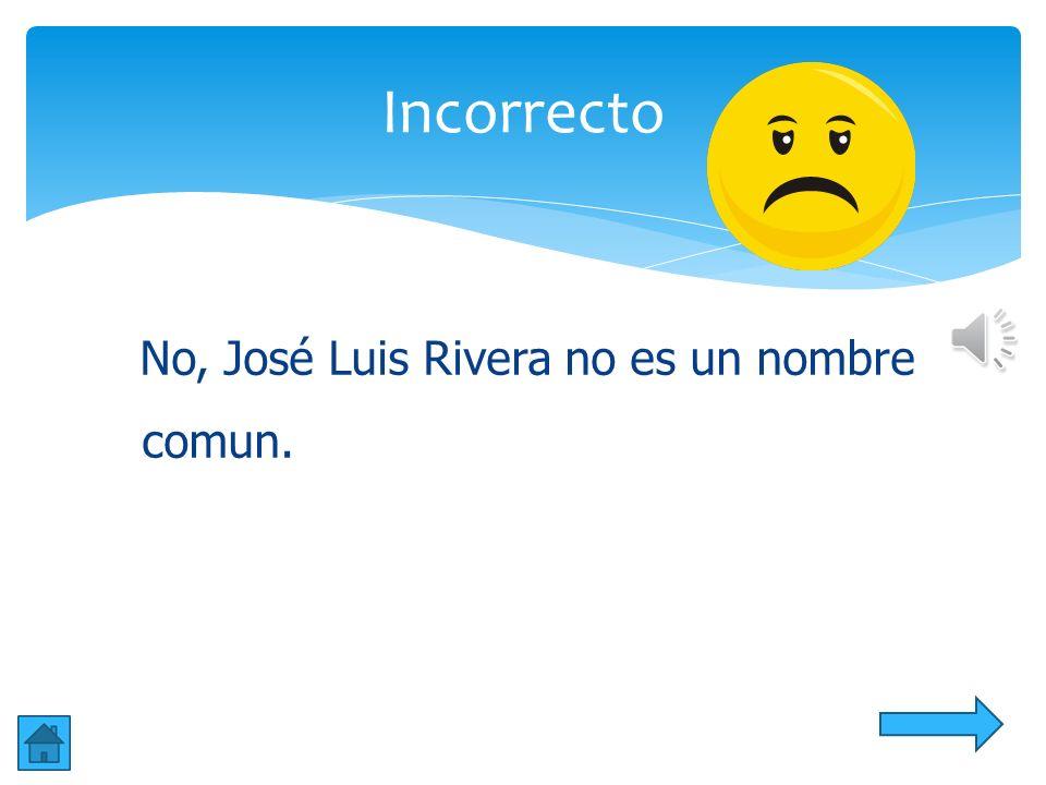 Si!!!!! José Luis Rivera es un nombre propio y está escrito correctamente. Correcta