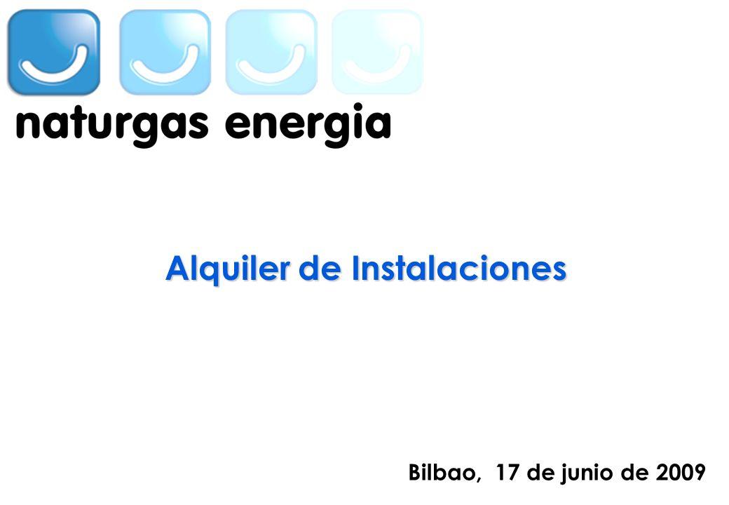 INSERTAR EN LA MASTER LA SEGUNDA MARCA Bilbao, 17 de junio de 2009 Alquiler de Instalaciones