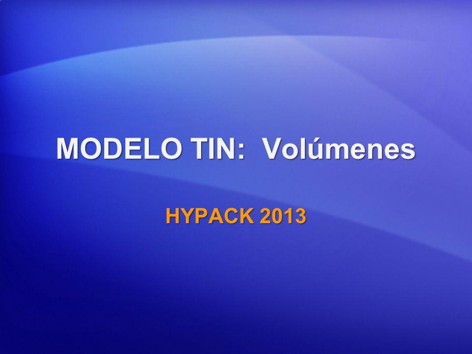 VOLUMENES MODELO TIN Volumen Represas (TIN vs.NIVEL) Volumen Represas (TIN vs.