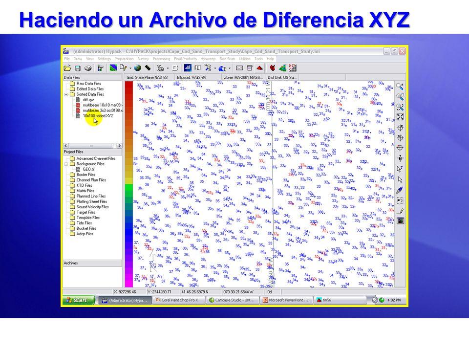 Haciendo un Archivo de Diferencia XYZ