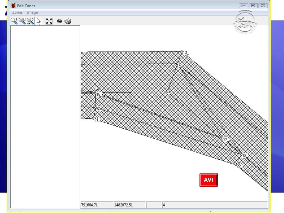 Zonas de Reporte En DISEÑO AVANZADO DE CANAL: Cree su superficie de diseño entrando nodos XYZ y conectándolos en caras planas.Cree su superficie de di