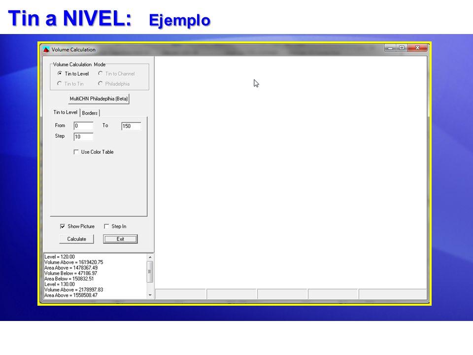 Volumen TIN vs XYZ: Configuración Usado para calcular la diferencia en material entre dos archivos.