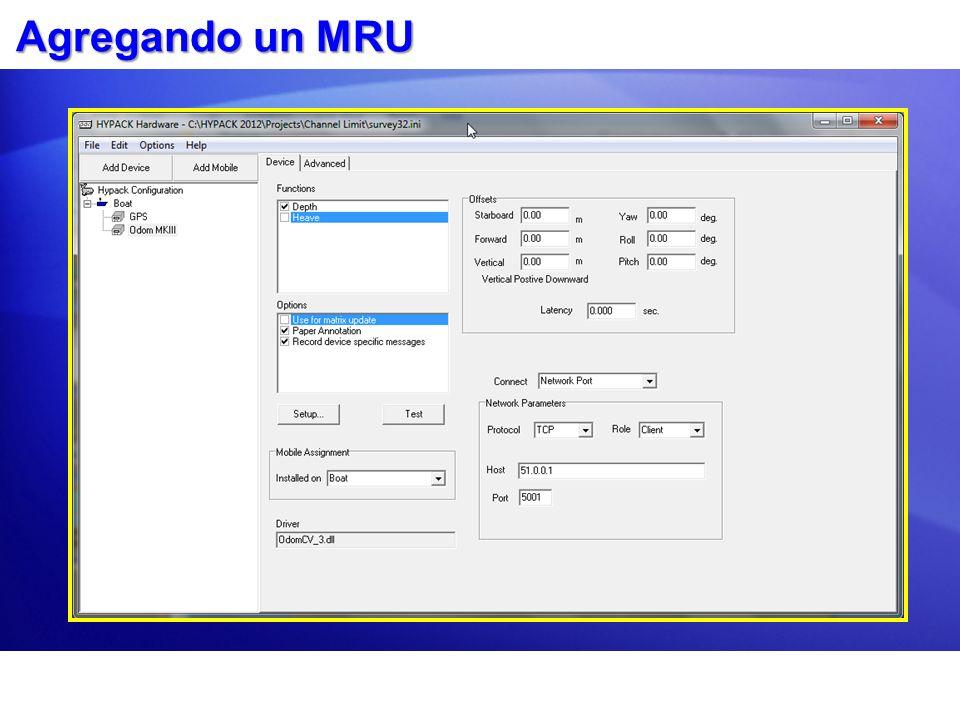 Agregando un MRU