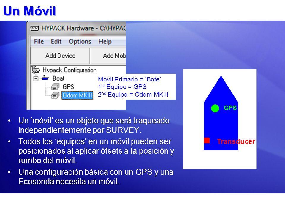 Un Móvil Un móvil es un objeto que será traqueado independientemente por SURVEY.Un móvil es un objeto que será traqueado independientemente por SURVEY