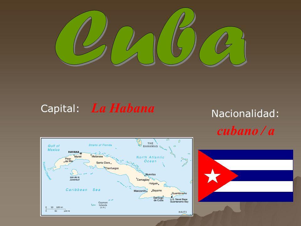 La Habana cubano / a Capital: Nacionalidad: