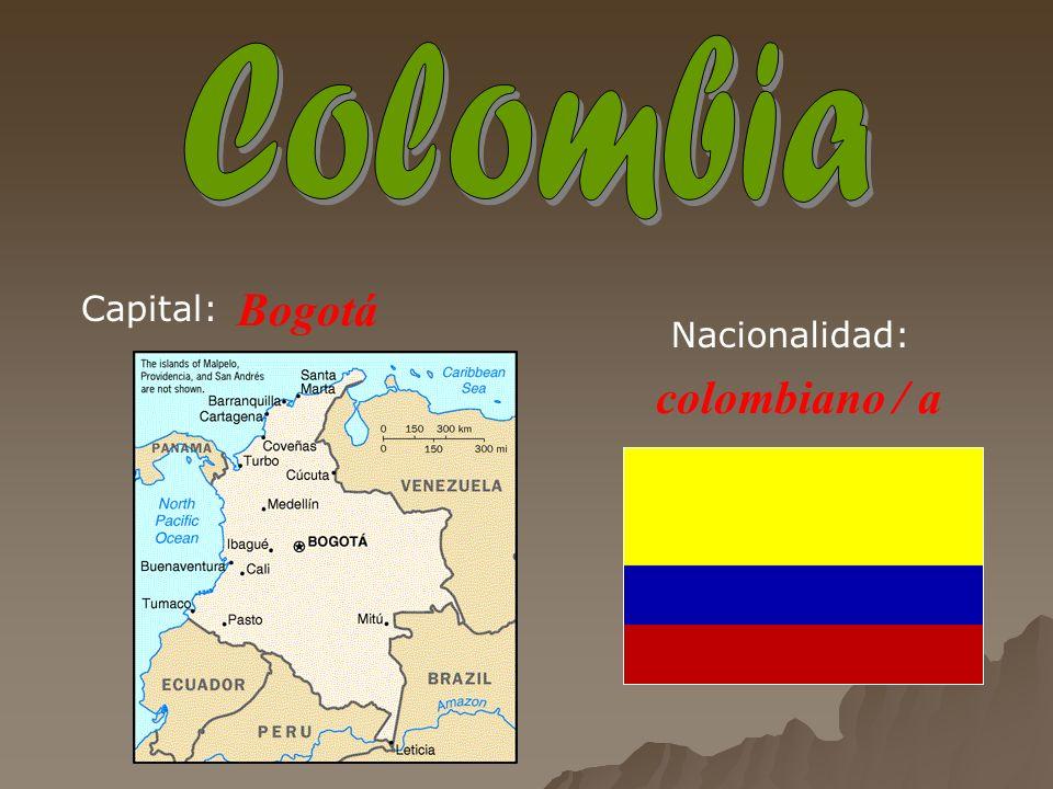 Bogotá colombiano / a Capital: Nacionalidad: