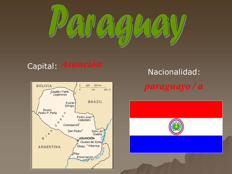 Asunción paraguayo / a Capital: Nacionalidad: