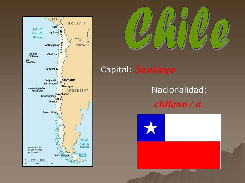 Santiago chileno / a Capital: Nacionalidad: