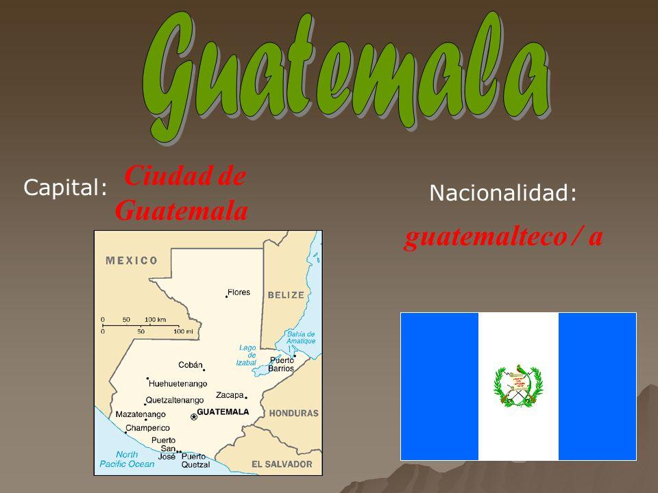 San Salvador salvadoreño / a Capital:Nacionalidad: