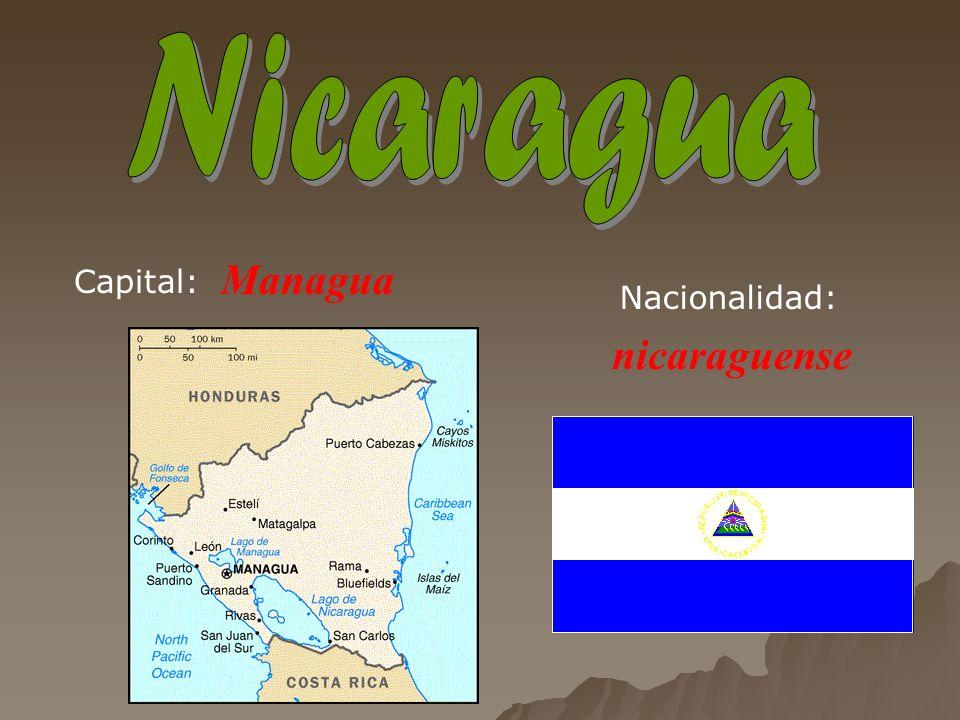 Managua nicaraguense Capital: Nacionalidad: