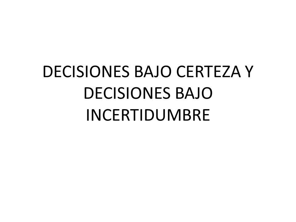 MODELO DE TABLA DE PAGOS PARA EL ANÁLISIS DE DECISIONES ESTADOS DE LA NATURALEZA ALTERNATIVAS N1N2…Nn A1Q11Q12…Q1n A2Q21Q22…Q2n ………… AmQm1Qm2…Qmn