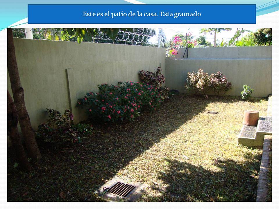 Este es el patio de la casa. Esta gramado