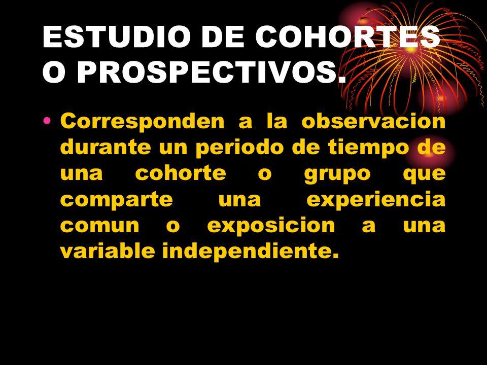 VENTAJAS ESTUDIOS DE COHORTES.