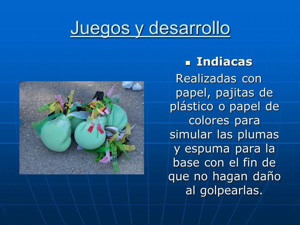 Juegos y desarrollo Indiacas Indiacas Realizadas con papel, pajitas de plástico o papel de colores para simular las plumas y espuma para la base con e