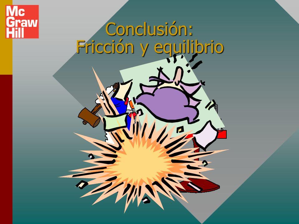 Resumen Fricción estática: No movimiento relativo. Fricción cinética: Movimiento relativo. f k = k n f s s n El procedimiento para la solución de prob