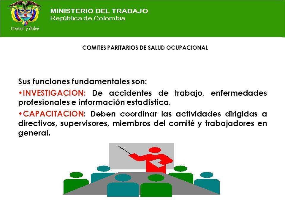 ASIGNACION DE CARGOS REPRESENTANTES DEL EMPLEADOR DESIGNADOS POR ESTE Presidente REPRESENTANTE TRABAJADORES ELEGIDOS POR VOTACION LIBRE Secretario