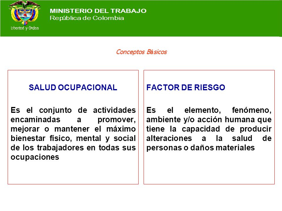 DIRECCIÓN GENERAL DE RIESGOS PROFESIONALES RIESGOS PROFESIONALES DIRECCIÓN GENERAL DE RIESGOS PROFESIONALES RIESGOS PROFESIONALES Conceptos Básicos so