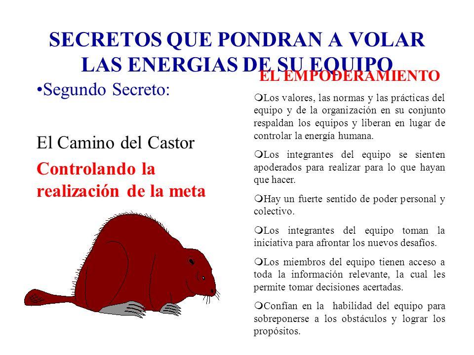 SECRETOS QUE PONDRAN A VOLAR LAS ENERGIAS DE SU EQUIPO Segundo Secreto: El Camino del Castor Controlando la realización de la meta EL EMPODERAMIENTO m