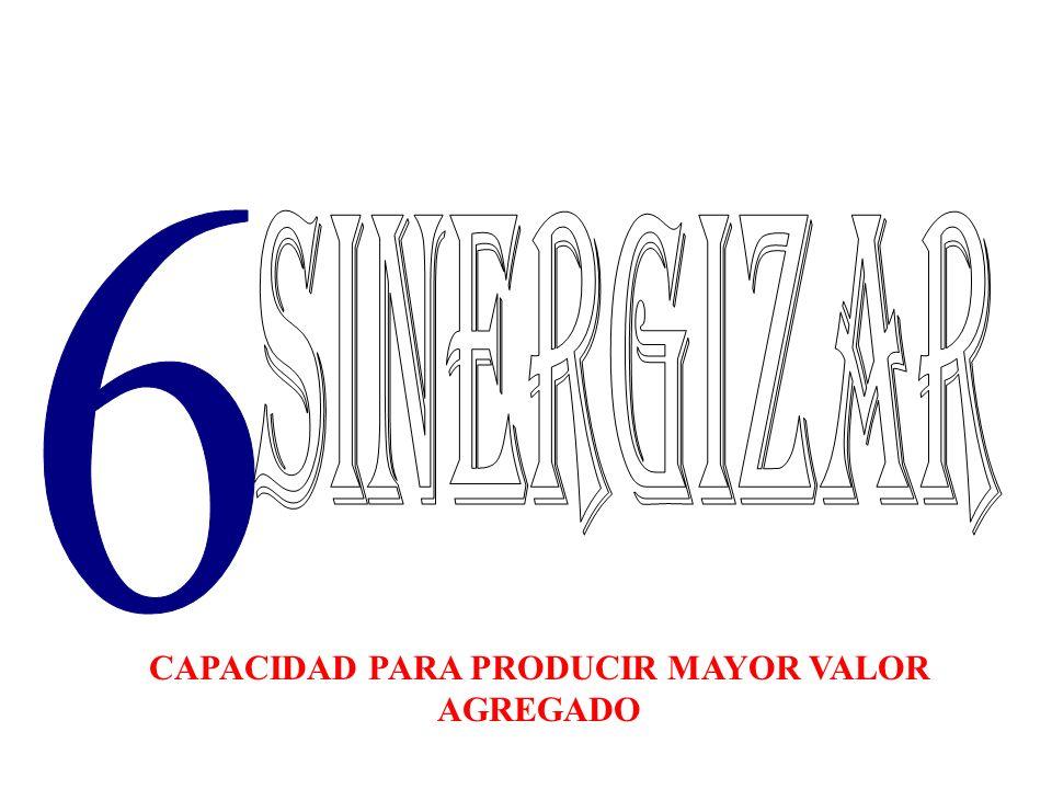 CAPACIDAD PARA PRODUCIR MAYOR VALOR AGREGADO
