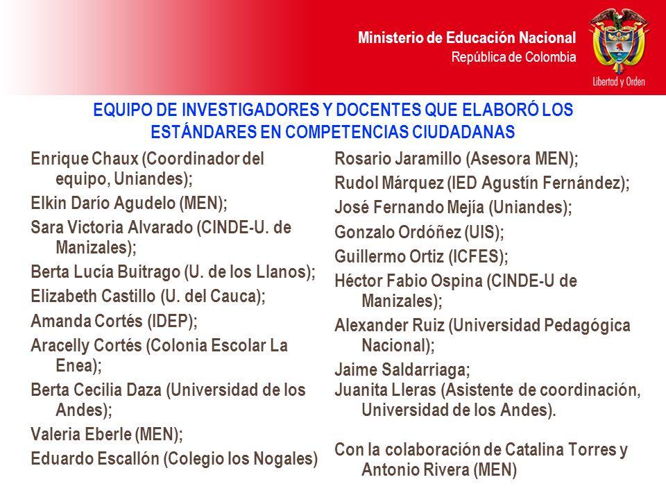 Ministerio de Educación Nacional República de Colombia ESTÁNDARES DE 5.