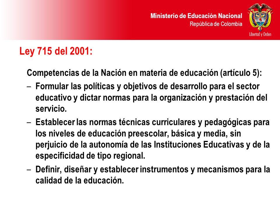 Ministerio de Educación Nacional República de Colombia Competencias cognitivas Capacidad para realizar diversos procesos mentales, fundamentales en el ejercicio ciudadano tales como la identificación de las consecuencias de una decisión, la descentración, la coordinación de perspectivas, etc.