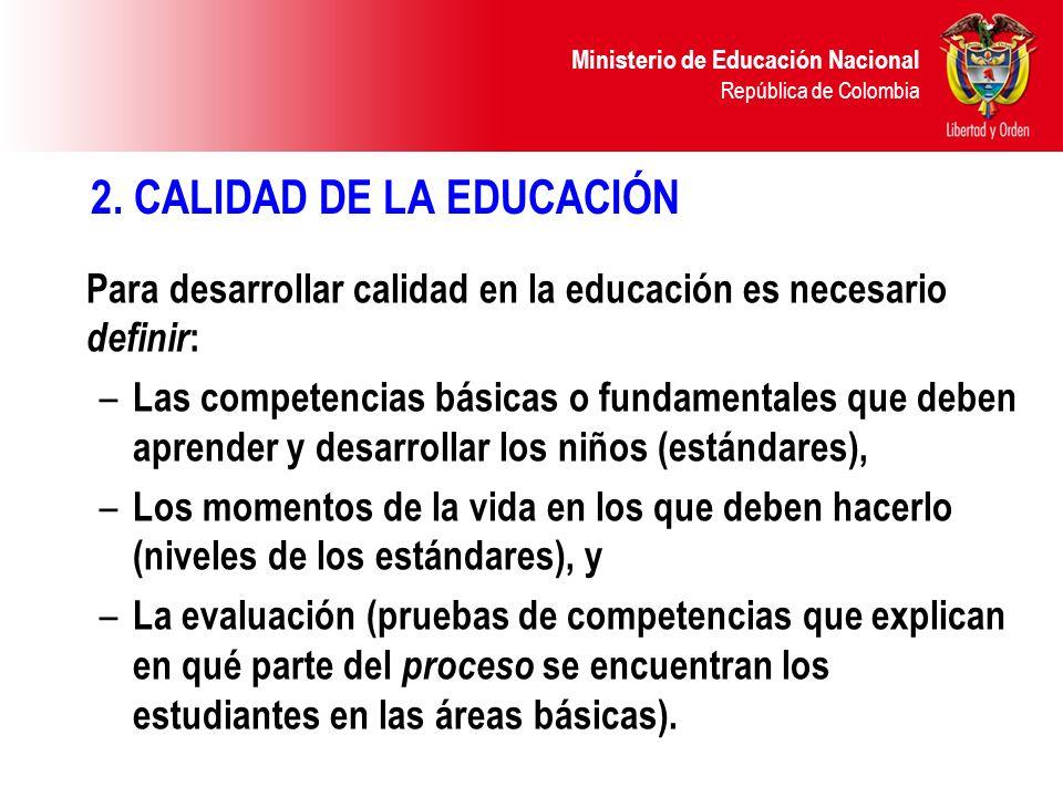 Ministerio de Educación Nacional República de Colombia 2.1.