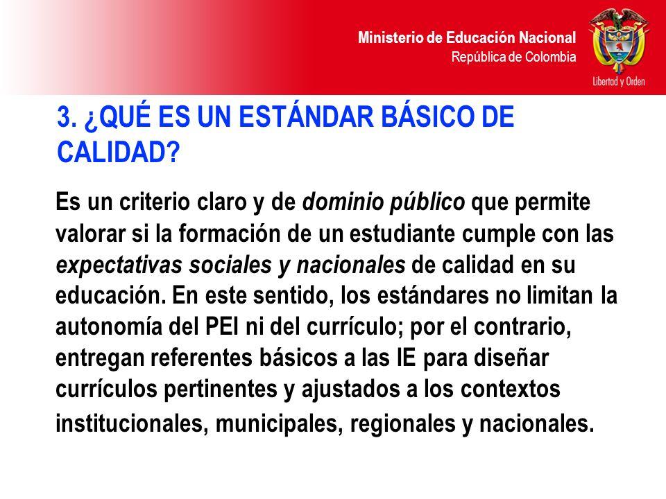 Ministerio de Educación Nacional República de Colombia Competencias integradoras Son las habilidades para articular, en la acción misma, las demás competencias y los conocimiento necesarios para el ejercicio de la ciudadanía.