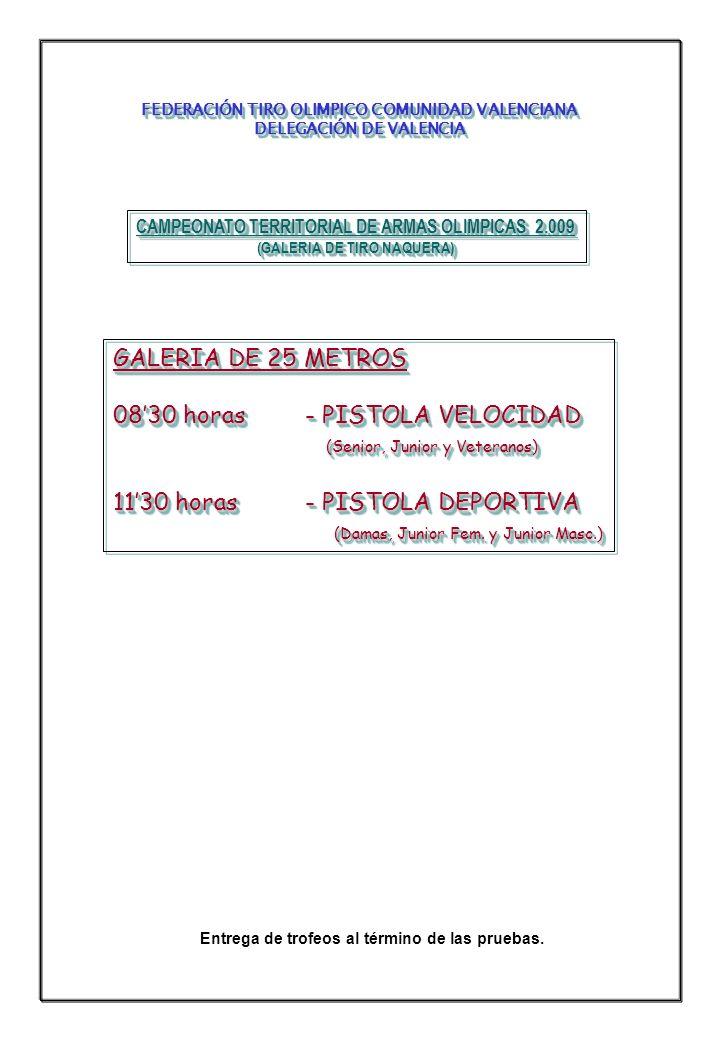 CAMPEONATO TERRITORIAL DE ARMAS OLIMPICAS 2.009 (GALERIA DE TIRO NAQUERA) CAMPEONATO TERRITORIAL DE ARMAS OLIMPICAS 2.009 (GALERIA DE TIRO NAQUERA) GA