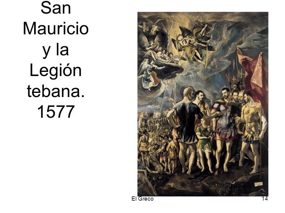 El Greco14 San Mauricio y la Legión tebana. 1577