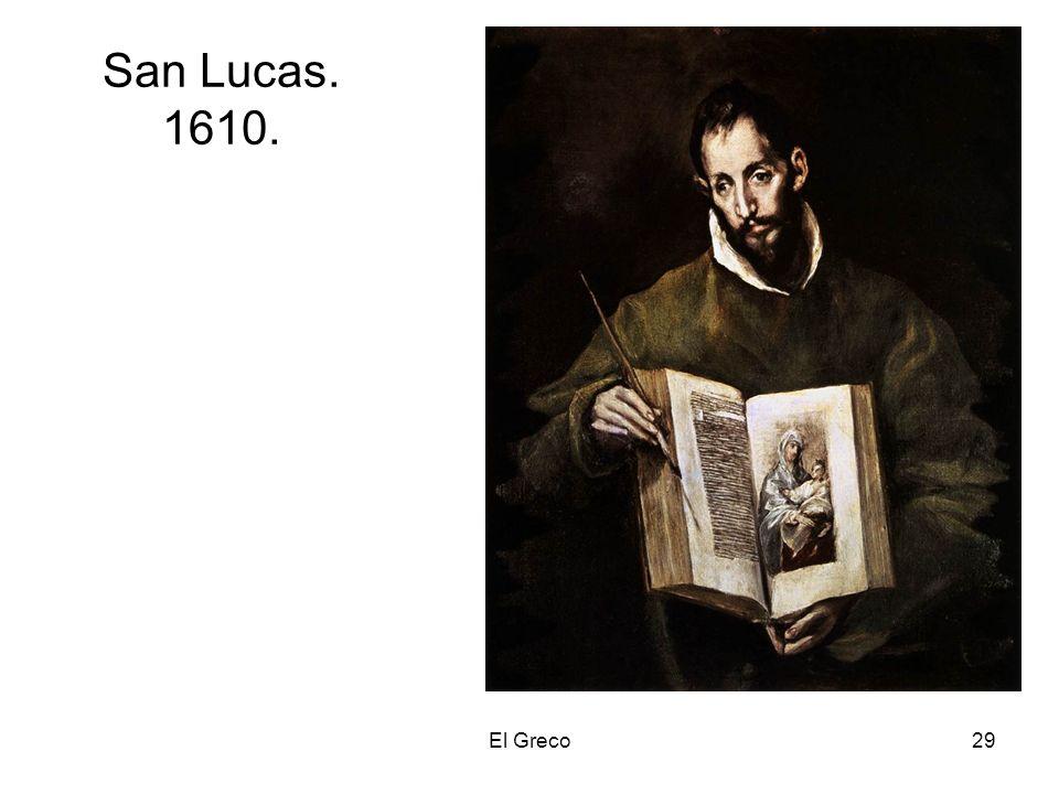 El Greco29 San Lucas. 1610.
