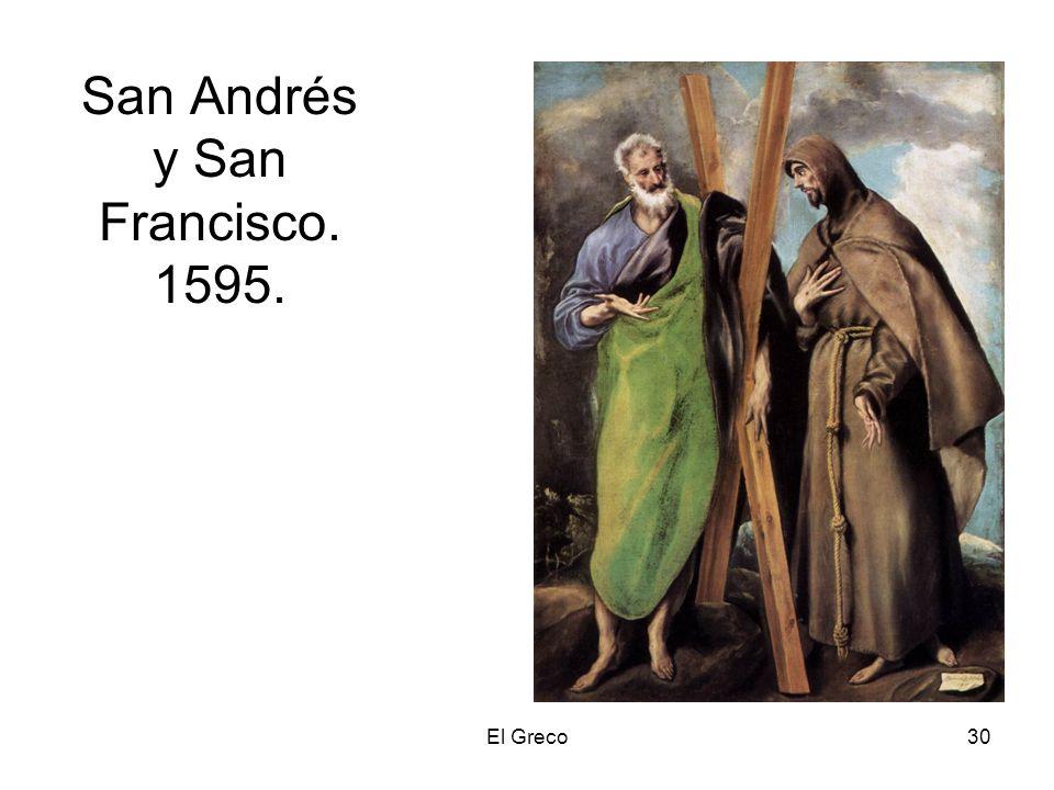 El Greco30 San Andrés y San Francisco. 1595.