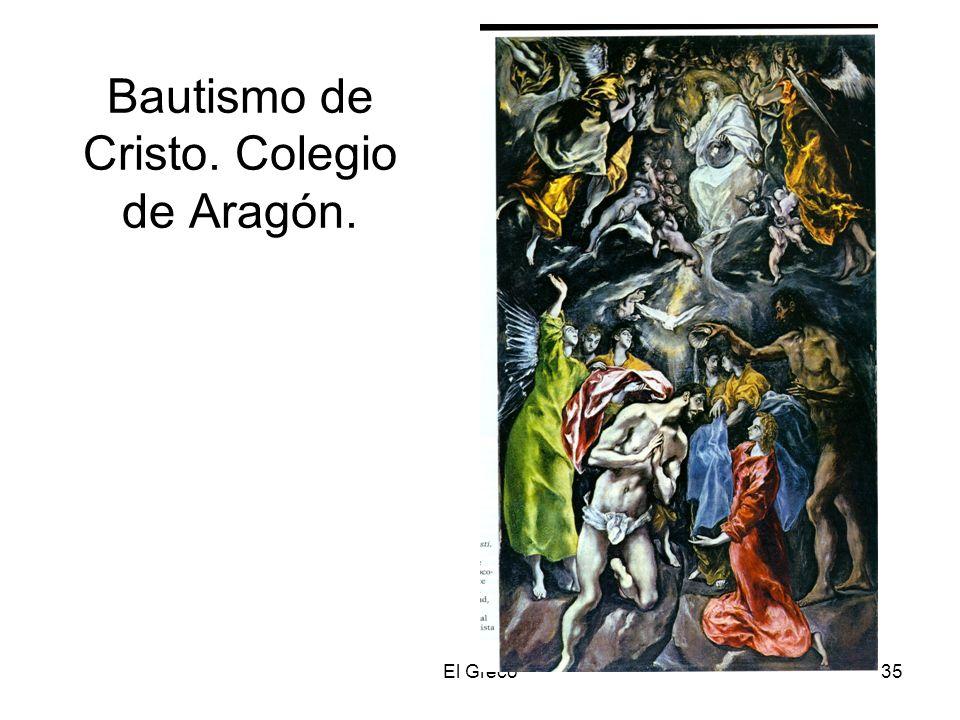 El Greco35 Bautismo de Cristo. Colegio de Aragón.