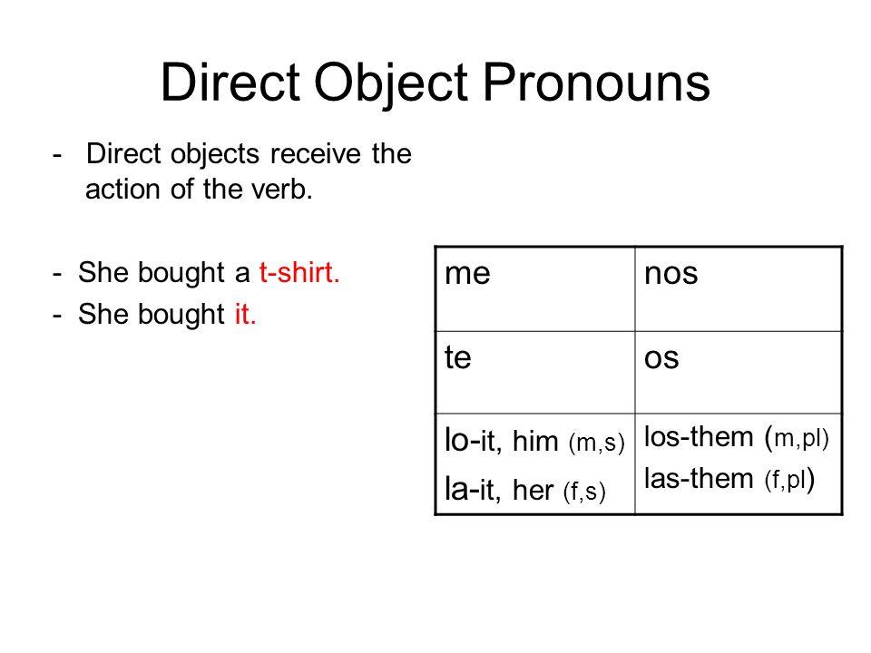 Unos ejemplos Yo estudié el español.Yo lo estudié.