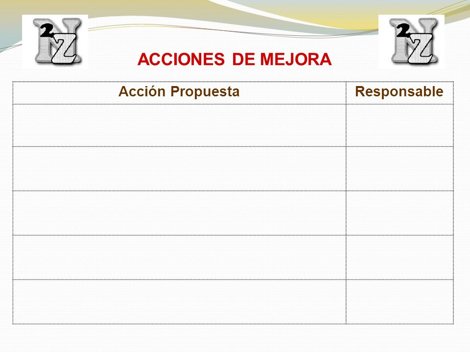 ACCIONES DE MEJORA Acción PropuestaResponsable