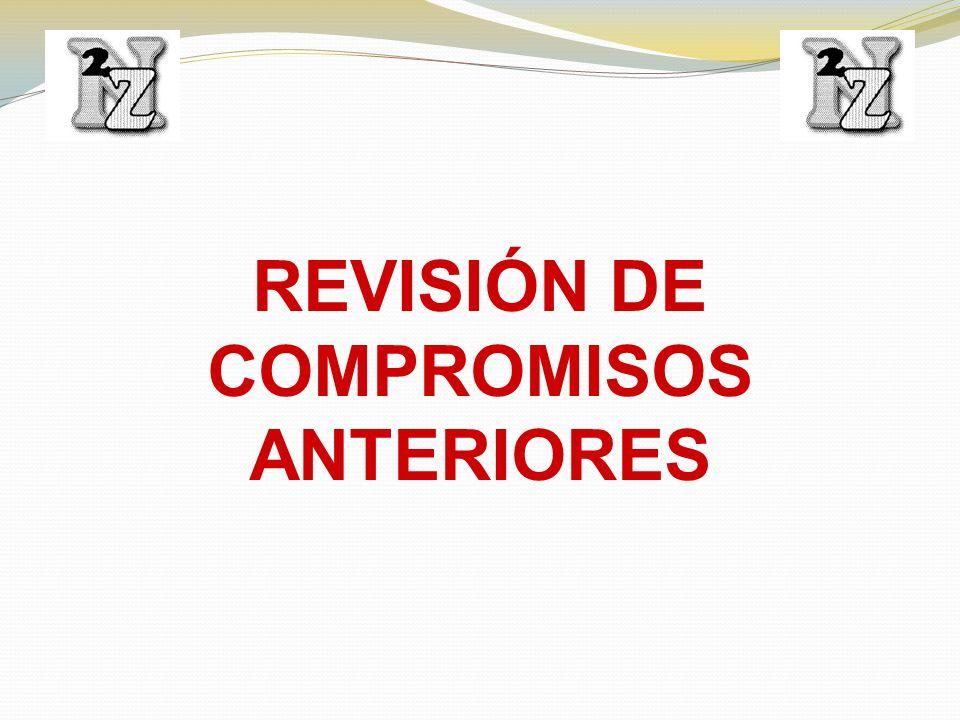REVISIÓN DE COMPROMISOS ANTERIORES