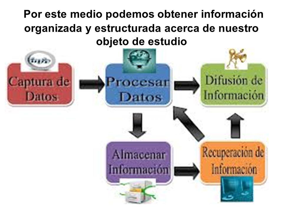 Por este medio podemos obtener información organizada y estructurada acerca de nuestro objeto de estudio