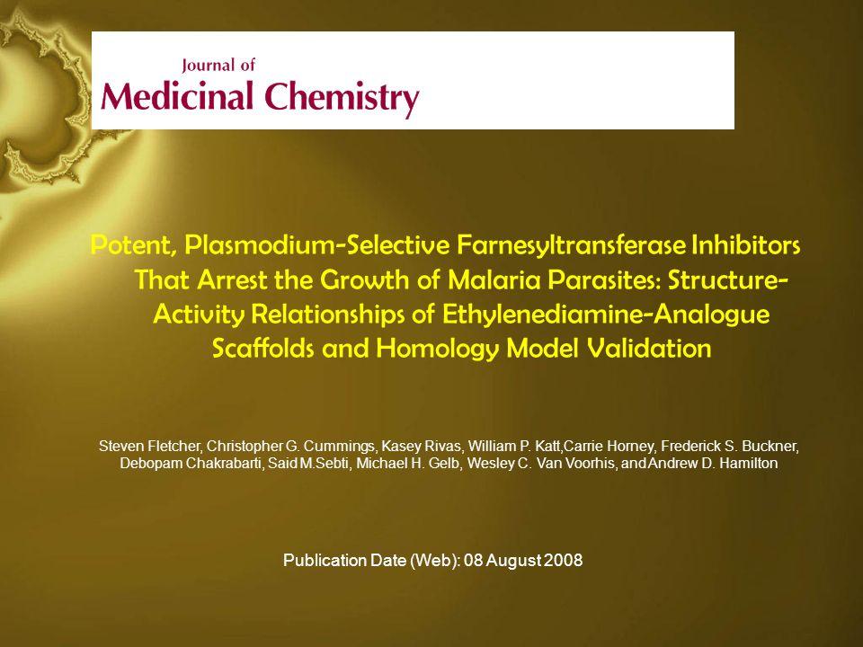 Conclusiones Considerando el costo, la rapidez y la facilidad de síntesis, se concluye que la familia de inhibidores basados en etilendiamina son los mejores antimaláricos de esta serie hasta ahora y brindan un alto grado de efectividad sobre las isoformas PFT de mamíferos.