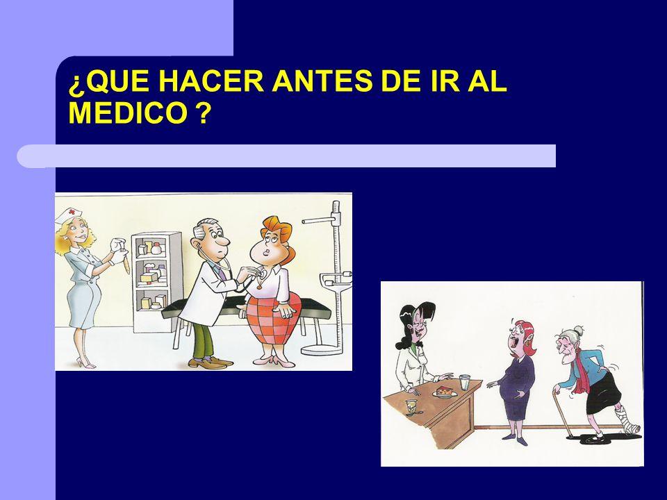 ¿QUE HACER ANTES DE IR AL MEDICO ?