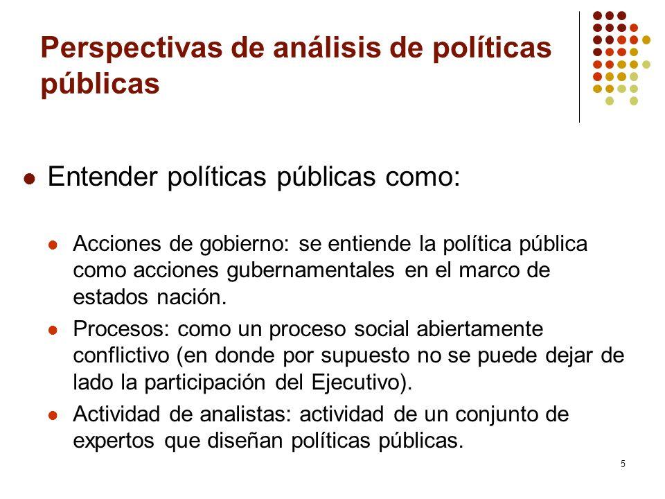6 Tipos de políticas Distributivas: procuran beneficios concretos a grupos sociales o territoriales específicos.