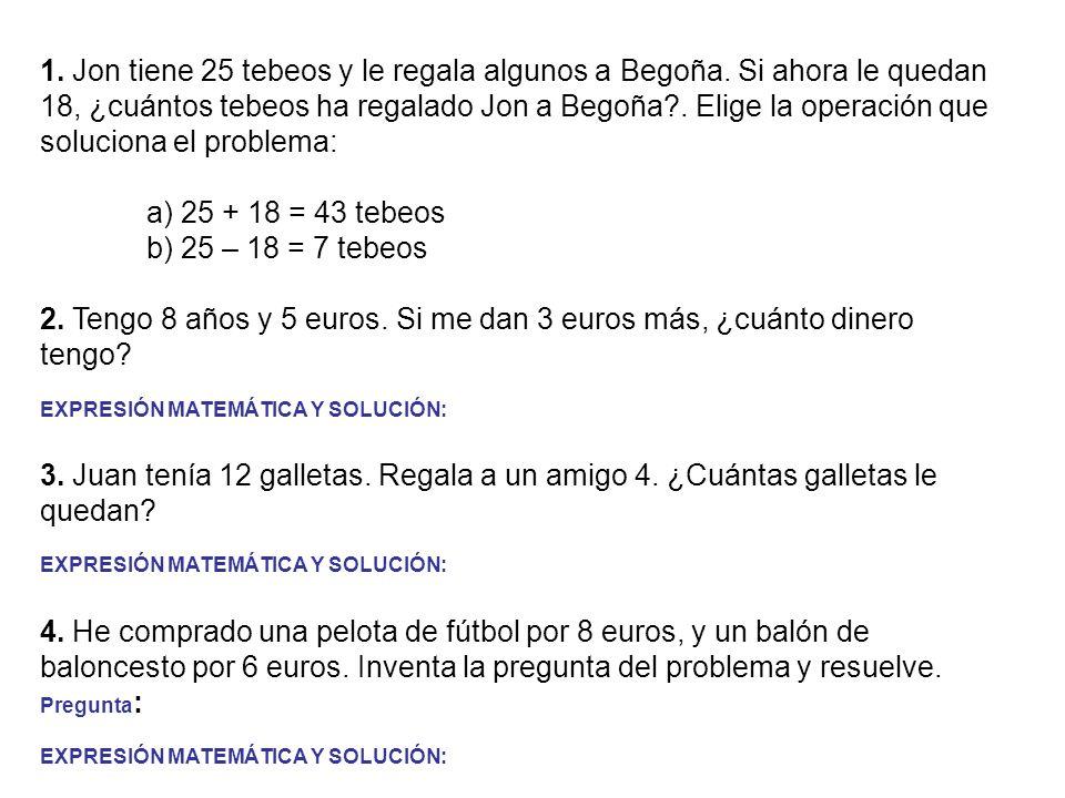 1.Ignacio pesaba el año pasado 25 kilos. Este año ha engordado 5 kg.