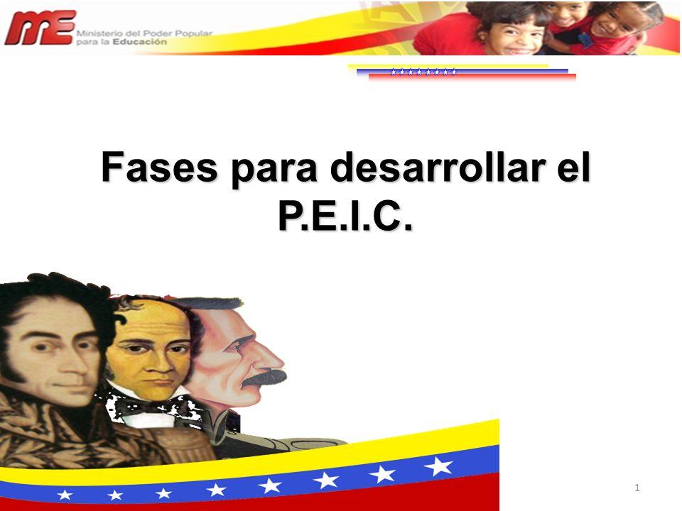 1 Fases para desarrollar el P.E.I.C.