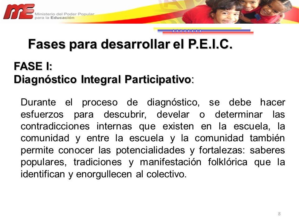 29 Se sugiere, que el nombre del PEIC, sea alusivo a la situación seleccionada.