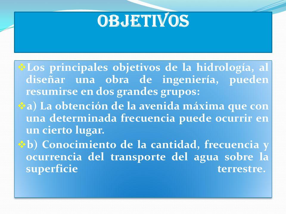 Aplicaciones de la hidrología Las inundaciones son eventos hidrológicos extremos que pueden prevenirse mediante el estudio de la hidrología.