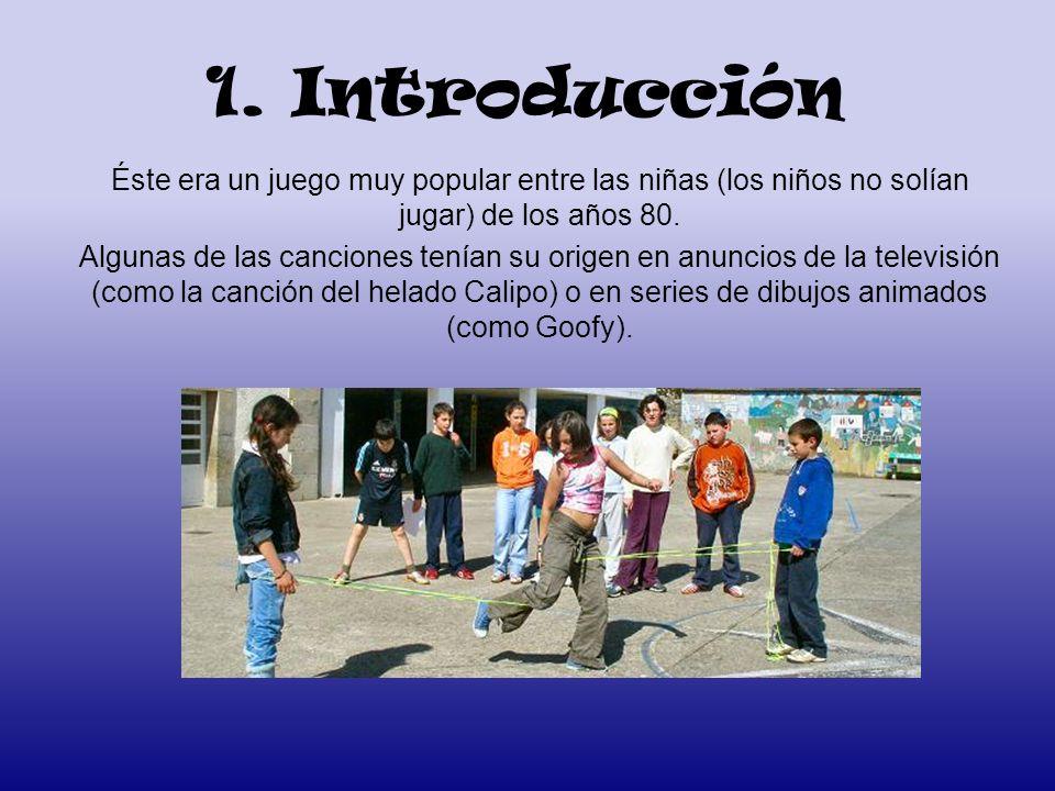1. Introducción Éste era un juego muy popular entre las niñas (los niños no solían jugar) de los años 80. Algunas de las canciones tenían su origen en