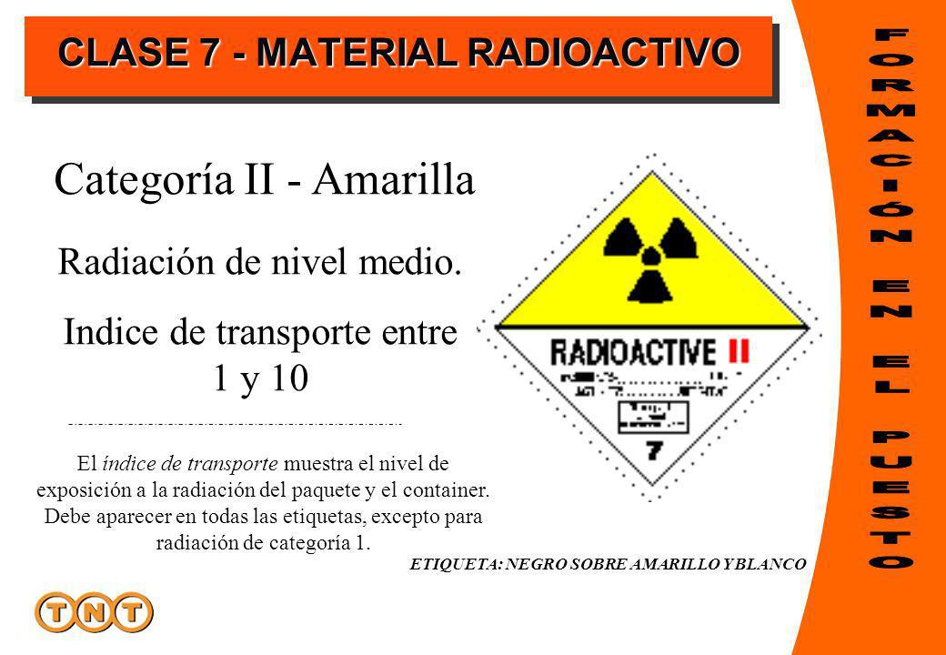 Radiación de nivel medio.