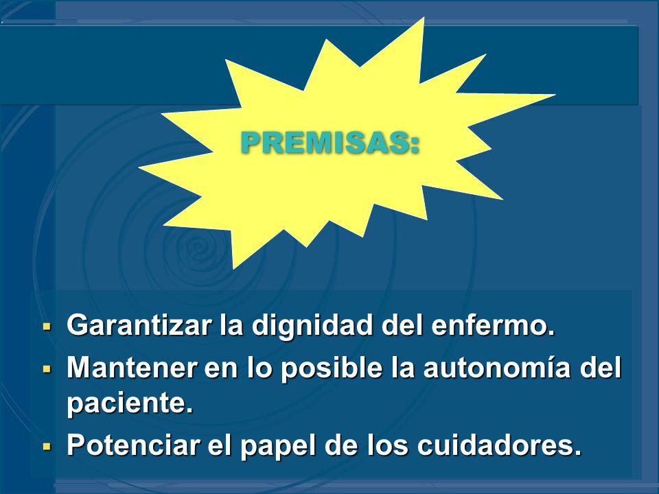 ENTREVISTA CON LA FAMILIA (III) Identificación del cuidador principal.