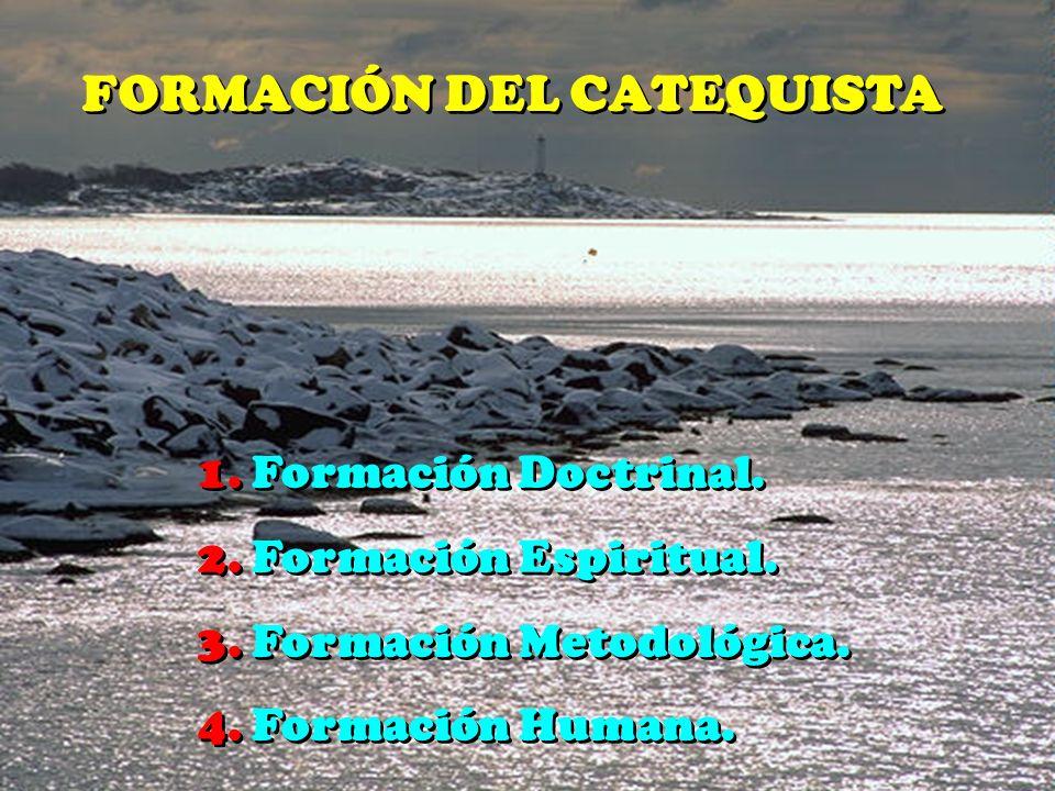 FORMACIÓN DEL CATEQUISTA 1.Formación Doctrinal. 2.